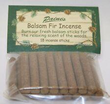 INCENSE REFILL 18 BALSAM FIR STICKS Paine's SACHET scented pine log
