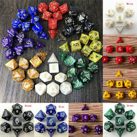 7 Dice Set Dungeons & Dragons D & D Multi Dided D4-D20 Gioco di ruolo IH