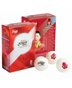 DOUBLE HAPPINESS 40+ 3 Stars Table Tennis Balls Pack of 6