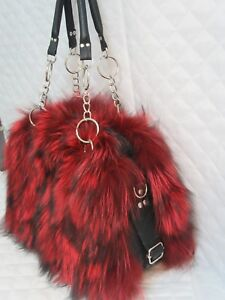 REAL FUR AND REAL LEATHER RENAR HANDMADE FAST SHIPPING : 5-10 WORKING DAYS