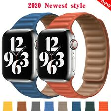 Leather Link strap for Apple watch magnetic bracelet for Apple watch