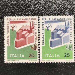Italia año 1970 Salvaguarda de la Naturaleza  Nº 1063 1064