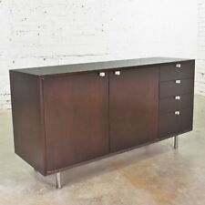 Early Basic Cabinet Series Walnut Sideboard Credenza by George Nelson for Herman