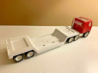 Buddy L MACK TRUCK Semi Tractor with LOWBOY Flatbed Trailer 15 inches long