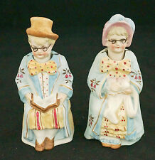 German Bisque  Grandma Grandpa Matching Pair Nodder Bobblehead Figurine