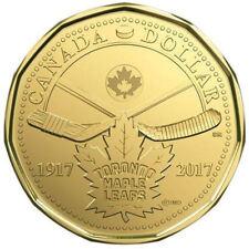 2017 Canada Anni. of Toronto Maple Leafs  (loonie)  $1 dollar coin UNC - No Tax