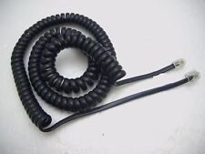 Black Coiled Handset Cord Rj9 plug to Rj11 plug for Bt / Ipc Dealerboard Headset