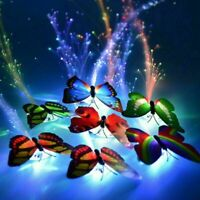LED Colorful Butterfly Flashing Hair Braid Lights Up Hair Supply Party Xmas D0W0
