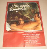 A1 Filmplakat ,DIE NACKTE BOURGEOISIE,ORNELLA MUTTI,SENTA BERGER,