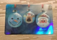 Walmart Gift Card Xmas Bulbs Santa 2015 Collectible $0 value - FD49032 - CANADA