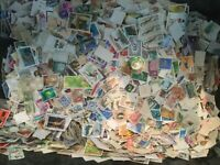200grammes 3000++  WORLD OFF PAPER COLLECTION STAMPS kiloware