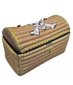 Inflatable Blow Up Pirate Treasure Chest Drinks Cooler Fancy Dress Party Prop UK