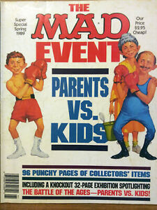 Mad Magazine The MAD Event Super Special Spring 1989 Parents vs Kids