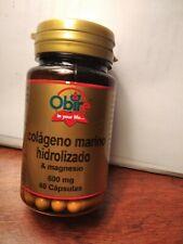 Colageno marino hidrolizado & magnesio 600 mg/ 60 capsulas OFERTA!!!