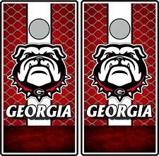 Georgia Bulldogs 0449 cornhole board vinyl wraps stickers posters decals skins