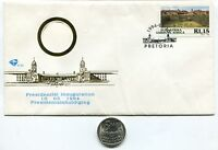 South Africa Nelson Mandela Presidential Inauguration 1994 FDC W/used R5 Coin