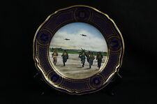 Rare Royal Air Force Battle of Britain Cobalt 50 anniversary plate [Y7-W7-A8]