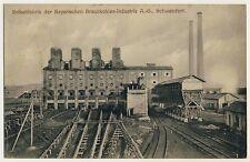 SCHWANDORF Brikett Fabrik Braunkohle Industrie Bergbau Coal Mining * AK um 1910