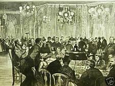 MONTE CARLO GAMBLING SALOON 1886 Antique Print Matted