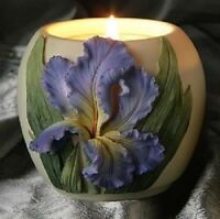 Ibis & Orchid Votive Jar Candle, Bearded Iris (21017)