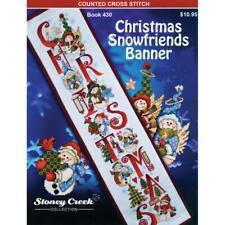 STONEY CREEK Cross Stitch Pattern Leaflet CHRISTMAS SNOWFRIENDS BANNER Book 430