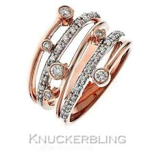 Diamond Mutli-Band Ring Brilliant Cut F VS set in 18ct Rose Pink Gold
