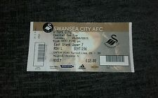 SWANSEA CITY V YORK CITY UNUSED TICKET 25TH AUGUST 2015 LEAGUE CUP