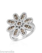 KREMENTZ USA COCKTAIL RING 1.48CTW GENUINE DIAMONDS 14K W/GOLD. WEIGHT 5.1G,NEW