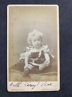 Victorian Carte De Visite CDV: Child Named SUTTON Dated 1883: King: Notting Hill