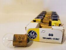 Box of 10 General Electric GE 89 GE89 Miniature Globe Lamps Light Bulbs 12V