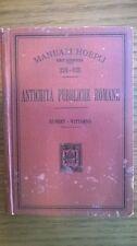 HUBERT G. /WITTGENS A.  -  ANTICHITA' PUBBLICHE ROMANE.  Hoepli,  1902. Prima ed