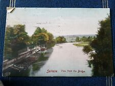 SALTAIRE, VIEW FROM THE BRIDGE POSTCARD c1911