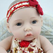 10'' Realistic Mini Reborn Baby Girl Dolls Full Body Silicone Vinyl Toy+Clothes