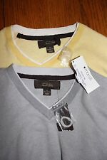 NWT~Lot of 2~Men's Size XL~Tasso Ella~Gray~Yellow~Vneck~Sweaters~MINT~Breathable
