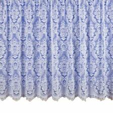 WHITE NET CURTAIN HEAVY THICK TRADITIONAL LACE DAMASK DESIGN FLORAL DESIGN 3000