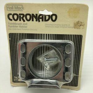Vintage NuTone Hall Mack Coronado Toothbrush Tumbler Holder Chrome HM-1630 NOS