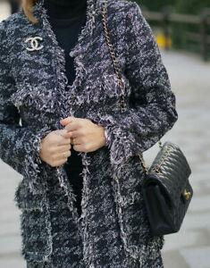 Zara Tweed Mantel Jacke Gr. M 36