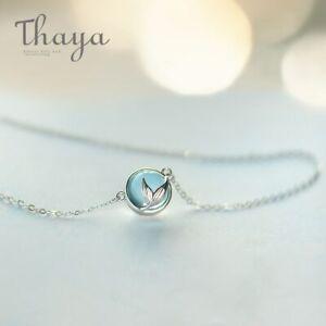 Mermaid Foam Bubble Design Crystal Necklace s925 silver Mermaid Tail Blue