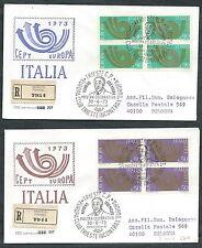 1973 ITALIA FDC CAPITOLIUM EUROPA QUARTINA TIMBRO ARRIVO - EDG32