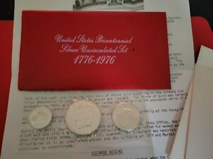 1776-1976 UNCIRCULATED Silver Bicentennial Set w/ Ike Dollar Kennedy Quarter UNC