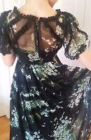 dolce and gabbana long floral chiffon dress, size 40, $8000