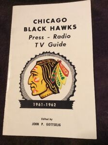 1961 CHICAGO BLACKHAWKS MEDIA GUIDE Press Book Roster Stanley Cup Champion