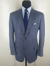 Brooks Brothers Vintage Sport Coat 3rd Btn Roll Center Vent 100% Wool 45 Long