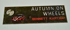 Vintage VW BUG Salt Creek SCC Metal Car Show Trophy Emblem Autumn on Wheels Rare