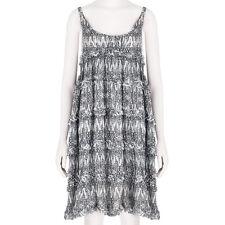 Thomas Wylde Black White Butterfly Print Silk Chiffon Babydoll Dress XS UK6 IT38