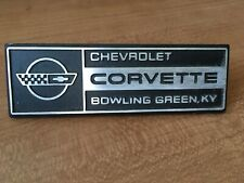 84-93 Chevrolet Corvette Under Hood Emblem Logo Bowling Green OEM 85 86 87 88 89