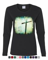 For God so Loved the World Women's Long Sleeve Tee Lord Savior Jesus Christian