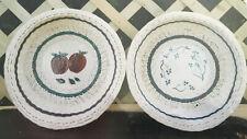Basket Weaving Pattern Trailing Blueberries by Jan Cronkite