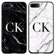 Personalised Marble  Initial Phone Case Cover For Samsung Galaxy Apple iPhone