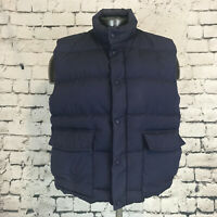Cabelas Men's Vest Goose Down Insulated Puffer Navy Blue Size Large